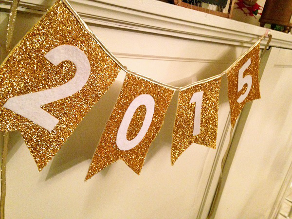Tutorial - Reversible banner to welcome the New Year