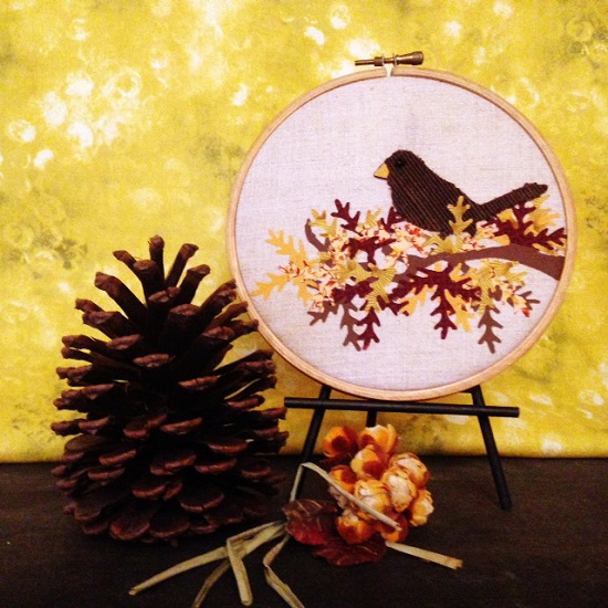 Tutorial: Sizzix fabric art for fall